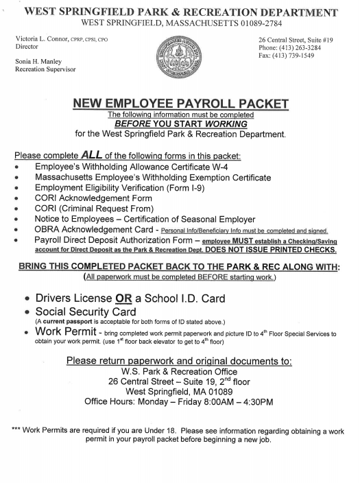 Payroll Packet Image